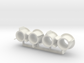 Smiths Gauge Lamp Adapter 1 in White Natural Versatile Plastic