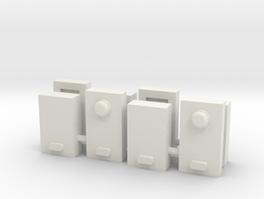 Electric Power Meter Box 1-87 HO Scale (4PK) in White Natural Versatile Plastic