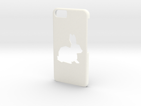 iPhone 6/6S Bunny Case in White Strong & Flexible Polished