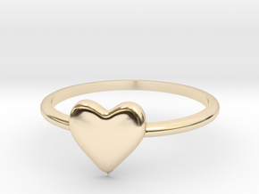 Heart-ring-solid-size-9 in 14K Yellow Gold