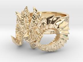 Diablo Ring (Size 3,5) in 14K Yellow Gold