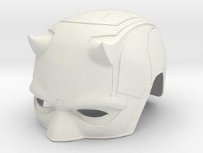 Daredevil Netflix: Season 2 cowl/helmet in White Natural Versatile Plastic