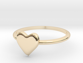 Heart-ring-solid-size-7 in 14K Yellow Gold