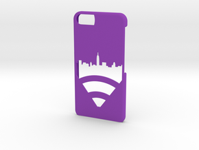 New York Skyline iPhone 6/6s Case in Purple Processed Versatile Plastic