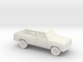 1/87 1979 Dodge D-200 in White Natural Versatile Plastic