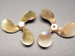 """Propeller 2.25"""" LH for 1:8 Scale Monterey Clipper in Natural Brass"""