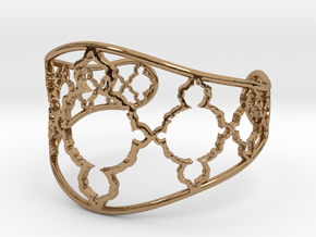 Mandelbrot Cuff in Polished Brass