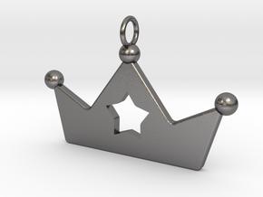 Crown Star Pendant in Polished Nickel Steel