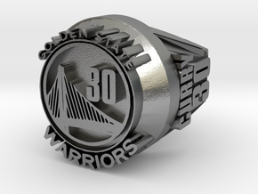 Curry 30  championship ring in Natural Silver
