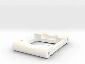 NIX41261 - Losi rear arm mount (0.5deg / 2deg)  in White Processed Versatile Plastic