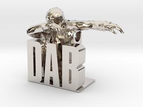 DAB-man Pendant in Platinum