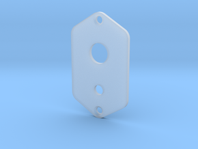 Jaguar Plate - 3 Way Switch + Mini Toggle in Smooth Fine Detail Plastic