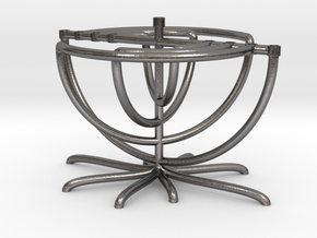 Twist Menorah in Polished Nickel Steel