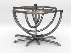 Twist Menorah in Polished Nickel Steel