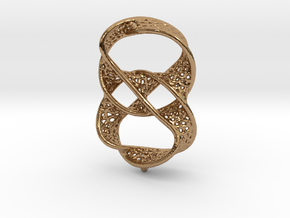 Infinity rings pendant (earrings) in Polished Brass