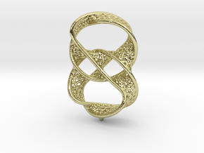 Infinity rings pendant (earrings) in 18k Gold