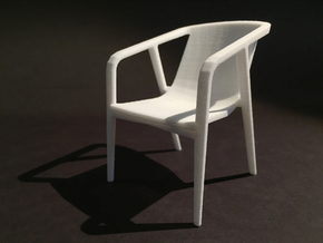 Pilot Guest Chair 1-12 scale in White Natural Versatile Plastic
