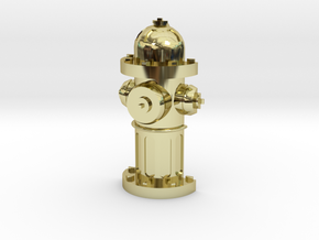 Fire Hydrant Pet Tag / Pendant in 18K Gold Plated