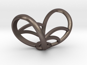 Infinity Splint in Polished Bronzed Silver Steel