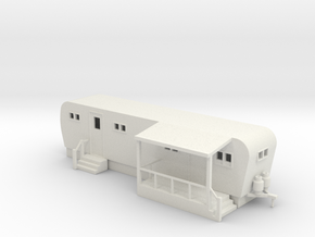 Trailer Mobile Home 30ft - HO 87:1 Scale in White Natural Versatile Plastic