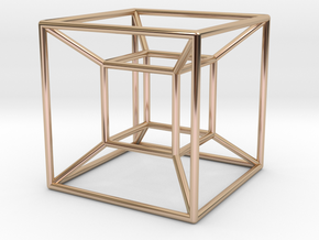 Tesseract in 14k Rose Gold Plated Brass