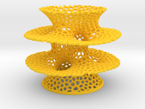 Voronoi Costa Vase in Yellow Strong & Flexible Polished