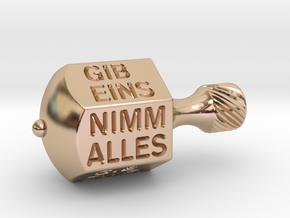Nimm-Gib-Kreisel  in 14k Rose Gold