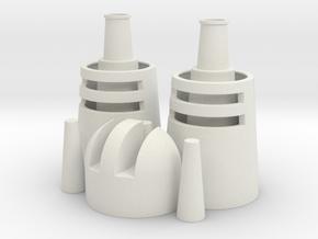 Desert Dweller Head Pieces Alternate Version in White Natural Versatile Plastic
