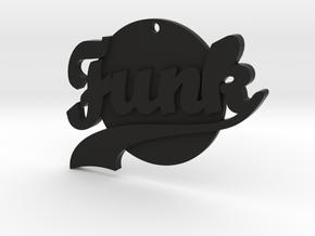 Funk Pendant in Black Natural Versatile Plastic