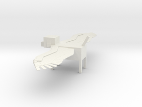 Minecraft Winged Dog in White Natural Versatile Plastic