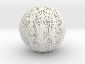 Epicycloid, 12 cusp, round wires in White Natural Versatile Plastic