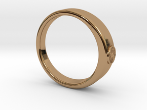 Ø0.707 inch/Ø17.97 mm Tree Of Life Ring  in Polished Brass