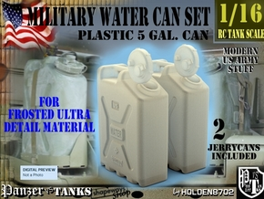 1-16 Military Water Can FUD SET1 in Smooth Fine Detail Plastic