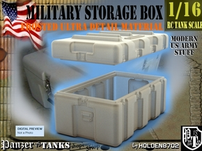 1-16 Military Storage Box FUD in Smooth Fine Detail Plastic