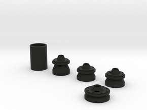 30mm Combo Pack 10cm in Black Natural Versatile Plastic