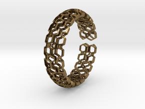HQ Bracelet, Medium Size, d=65mm. Strong, Bold, Un in Natural Bronze: Medium