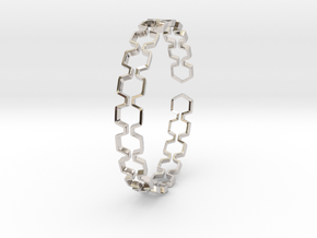 Honeyfull Bracelet 65mm in Platinum