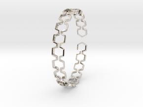 Honeyfull Bracelet 65mm in Rhodium Plated Brass