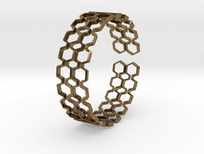Honeyfull S Bracelet, Medium Size, 65mm in Natural Bronze: Medium