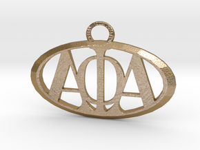Alpha Phi Alpha Pendant in Polished Gold Steel