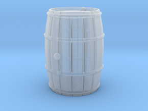 Wooden Barrel Wine Rundlet in Smooth Fine Detail Plastic