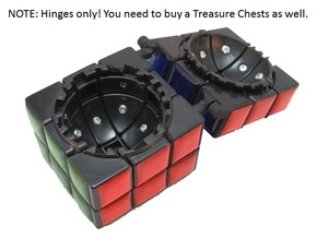 Hinges for Oskar's Treasure Chest in White Strong & Flexible