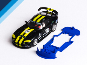 1/32 Fly Dodge Viper GTS-R Chassis for slot.it pod in Blue Strong & Flexible Polished