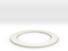 58mm Adapter Ring in White Natural Versatile Plastic