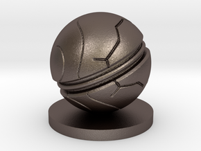 Slaughterball Large (15mm) in Polished Bronzed Silver Steel
