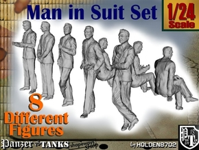1-24 Man In Suit V1 in White Natural Versatile Plastic