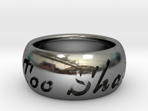 This Too Shall Pass ring size 6.5 in Fine Detail Polished Silver