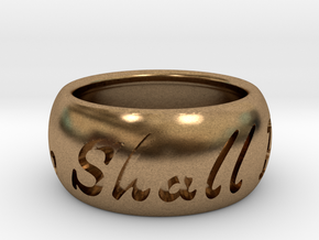 This Too Shall Pass Size 5.75 in Natural Brass