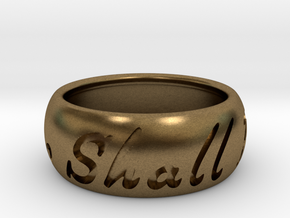 This Too Shall Pass ring size 9.5 in Natural Bronze