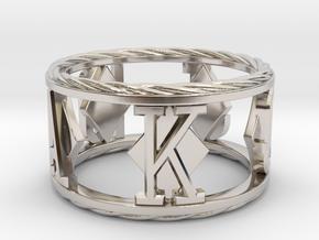 Royal Flush Diamonds Ring in Rhodium Plated Brass: 8 / 56.75